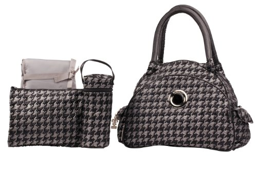 Kalencom Bellisima Herringbone Continental Flair Bag, Silver