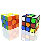 Newisland 2 Pack 3x3 Speed Cube, New Anti-Pop Structure, Durable with Vivid Color, Smooth Cornering Puzzle Cube with Guide
