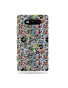 alDivo Premium Quality Printed Mobile Back Cover For Nokia Lumia 820 / Nokia Lumia 820 Printed Mobile Case (KT136-3D-O12-NL820)