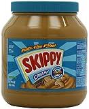 Skippy Creamy Peanut Butter, 64 Ounce Bottles (Pack of 2)
