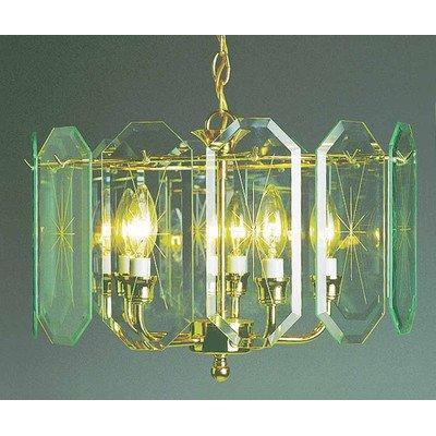 Volume Lighting V3195-C2 Chandelier, Polish Brass Finish front-979900