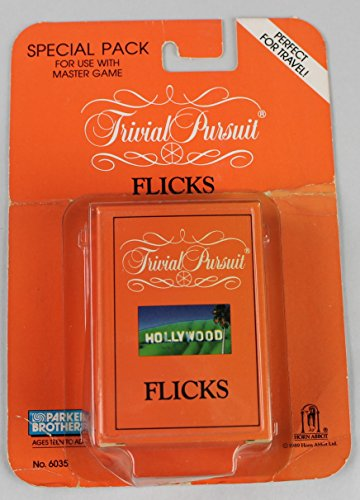 Trivial Pursuit, Flicks Special Pack, No. 6035, For Use With Master Game, 1989