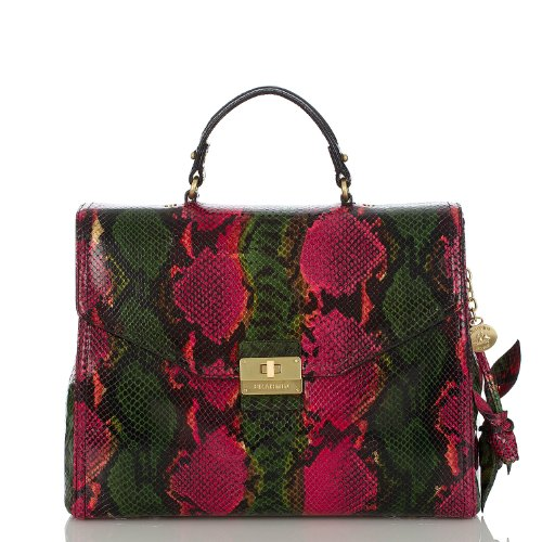 Delphine Rose Business Bag<br>Multi Anaconda Rouge
