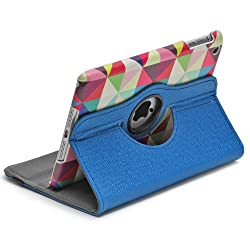 Aduro ROTATA TRIANGLE Pattern 360 Degrees Rotating Stand Case for Apple iPad MINI (Retail Packaging)
