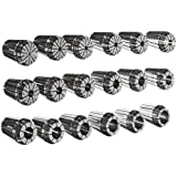 "Dorian Tool ER32 Alloy Steel Ultra Precision Collet Set, 0.078"" - 0.787"" Hole Size (Set of 18)"