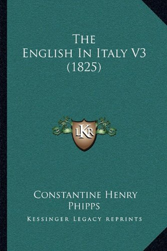 The English in Italy V3 (1825)