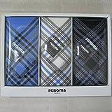 renoma レノマ 紳士ハンカチ 3枚セット REG15200