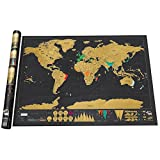 OSOYOO Deluxe Travel Scratch Off World map Personalized Poster Vacation Log Gift Toy