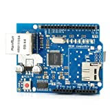 Ethernet W5100 Shield Network Expansion Board w/ Micro SD Card Slot for Arduino (Color: Blue, Tamaño: Small)
