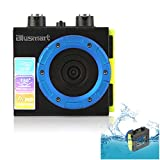 Blusmart? Waterproof HD Action Camera 1080P Sports Camera 12 MP Action DVR Wide Angle DV Diving Action Camera(Waterproof DV-Black)