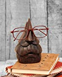 Store Indya Nose Shaped Spectacle Eyeglass Holder Display Stand Hand Carved in Mango Wood