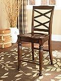 Ashley Furniture Signature Design Porter Barstool, Rustic Brown, Set of 2