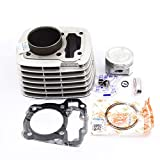 Motorcycle Cylinder Kit Piston Ring Gasket for Honda CRF125FB CRF 125FB CRF125F CRF 125 F CRF 125 BIG WHEEL 2014-2018 (Black) (Color: Black)
