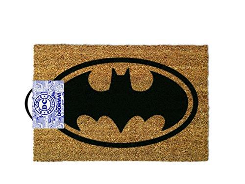 DC Comics Zerbino Tappeto Batman Logo 40 x 60 cm - Originale in cocco