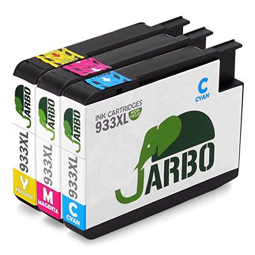 JARBO 3 Farbe Kompatibel HP 932XL 933XL Tintenpatronen Hohe Kapazität kompatibel zu HP Officejet 6100 6600 6700 7110 7610 7612 Printer (1 Cyan,1 Magenta,1 Gelb)