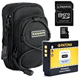 Bundlestar * Bundle Kit with BAXXTAR NEW case bag black + battery for Nikon EN-EL12 + SDHC card 8GB Class 6 !! For Nikon CoolPix S9300 S9100 S8100 S8200 P300 P310 S1200pj AW100