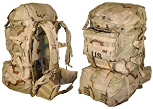 MOLLE II Standard Pack, Desert Camo, Genuine U.S. Military Issue by USGI