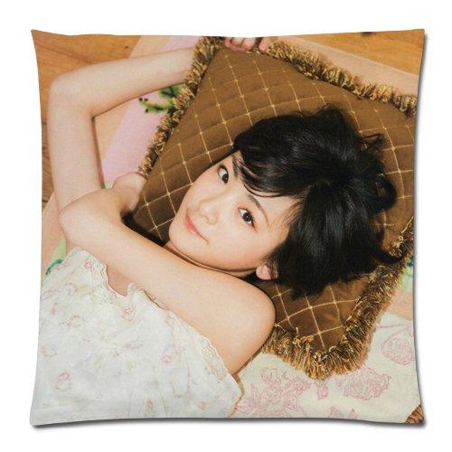 抱き枕カバー  ピローケース 45×45CM AKB48 グッズ Ikoma Rina いこま りな 生駒里奈グッズ hkt48 グッズ  mnb48グッズ オーダーメイド ファスナー 付き   クッションカバー コスプレ キャラクター  2WAYトリコット 両面