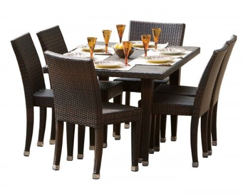 Best outdoor dining set 7 piece cheap patio for Affordable outdoor dining sets