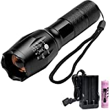 S&P FL006 LED Portable Zoomable Tactical Flashlight ,Rechargeable 18650 Battery and Charger Included ,Adjustable Focus,Super Bright 900 Lumens Torch For Hiking, Camping, Emergency