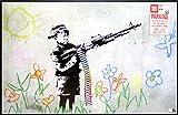 アートショップ フォームス バンクシー「クレヨン・シューター/Crayon Shooter」アートポスター