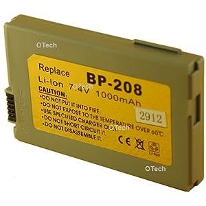 Otech C055SN Batterie pour Caméscope de type Canon BP-208 7,4 V