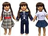 In-Style Doll Clothes for American Girl Dolls, 3 Outfits, 18-Inch