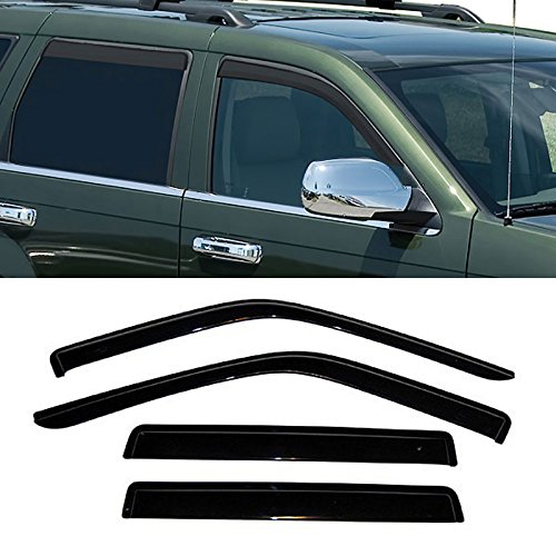 VIOJI 4pcs Dark Smoke Outside Mount Style Sun Rain Guard Vent Shade Window Visors Fit 93-98 Jeep Grand Cherokee Only (98 Jeep Grand Cherokee Parts compare prices)