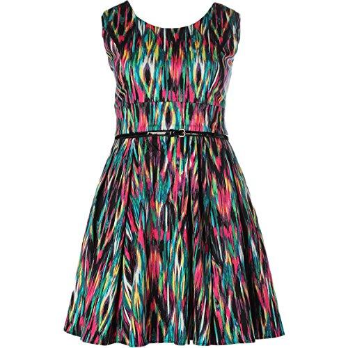 Calvin Klein Womens Printed Sleeveless Casual Dress