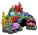 Exotic Environments Australian Barrier Reef with Clam Aquarium Ornament, Ex Small, 6-Inch by 4-Inch by 4-1/2-Inch thumbnail