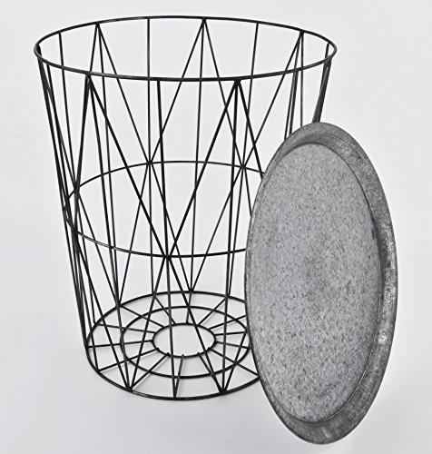Beistelltisch rund skandi design metall grau tisch m bel 50x43x43cm com forafrica - Design beistelltische metall tote ecken raum ...