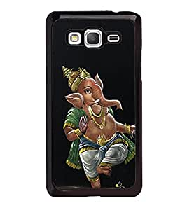 Fuson Premium 2D Back Case Cover Lord Ganesha With Multi Background Degined For Samsung Galaxy Grand Prime G530h