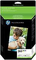 HP 363 Series Photo Value Pack Cartouche d'encre et kit papier Noir Jaune Cyan Magenta Magenta clair Cyan clair