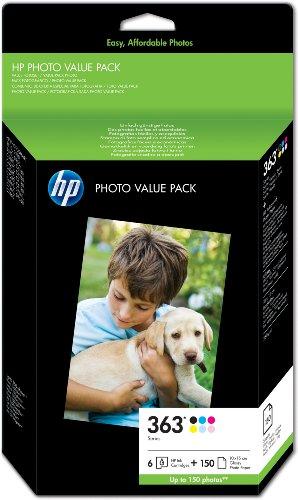 hp-363-series-photo-value-pack-cartouche-dencre-et-kit-papier-noir-jaune-cyan-magenta-magenta-clair-