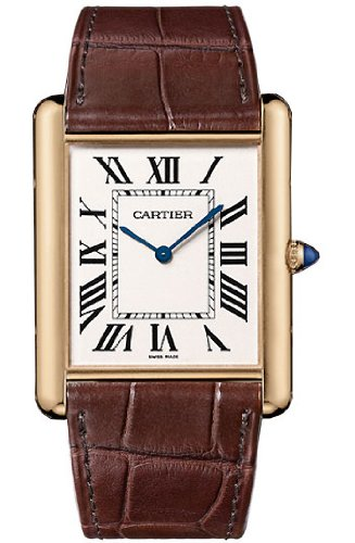 Cartier Tank Louis Manual Wind 18k Rose Gold Mens Watch W1560017