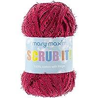 Mary Maxim Scrub it Yarn, Cranberry