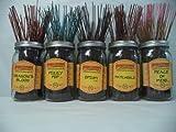 Wildberry Incense Sticks Best Seller Set #1: 20 Sticks Each of 5 Scents, Total 100 Sticks!