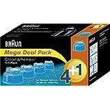 Braun - Pack de 4+1 Recharges de Liquide Nettoyant pour Système Clean & Renew - CCR4+1