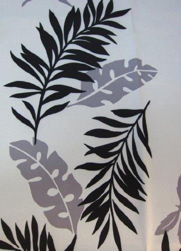モンステラ モダンリーフ柄遮光カーテン モダン  幅100cm×丈178cm 2枚組 WH