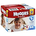 Huggies Snug & Dry Diapers, Size 6 (Over 35 lb), Disney Baby, 48 diapers
