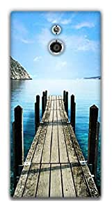 The Racoon Grip Sea hard plastic printed back case / cover for Sony Xperia P