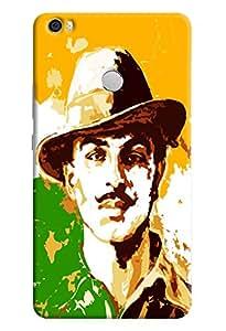 Omnam The Legend Bhagat Singh Printed Designer Back Cover Case For Xiaomi Mi Max