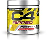 Cellucor C4 Ripped Pre Workout Powder Energy Drink + Fat Burner, Fat Burners for Men & Women, Weight Loss, Fruit Punch, 30 Servings