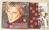 Rod Stewart Foolish Behaviour +inner & massive 2 sided poster Italian LP Italy