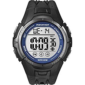 Timex Men's T5K359M6 Marathon Watch With Black Resin Band