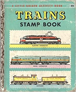 trains stamp book a little golden activity book a little golden stamp book a26 kathleen n. Black Bedroom Furniture Sets. Home Design Ideas