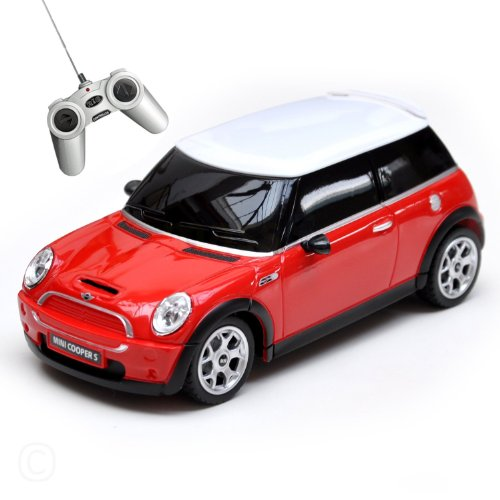 mini-cooper-remote-radio-controlled-124-scale-model-electric-toy-r-c-car-red