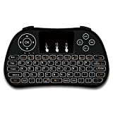 RabbyRock Mini Wireless Keyboard and Touchpad Mouse Combo - 2.4Ghz Colorful Backlit Handle Control - Best Remote Control & Rechargeable Combos for PC, Pad, Google Android TV Box (S5) (Color: S5)