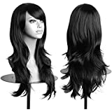 70cm Women Lady Long Hair Wig Curly Wavy Synthetic Anime Cosplay Party Full Wigs