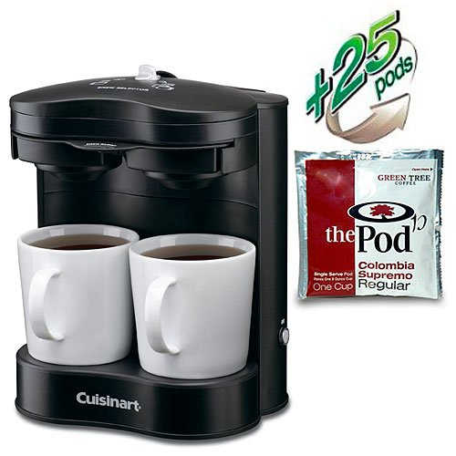 Cuisinart ® Commercial 2-cup Coffeemaker - Black (includes 36 Colombia Supremo Regular Pods)